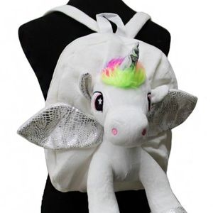 3D Unicorn Hologram Fuzzy Furry Cute Backpack Bag